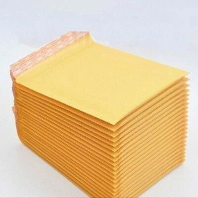 """5"""" x 6.5""""Kraft Bubble Envelopes Padded Mailers Shipping Self-Seal Bags 130x130mm"""