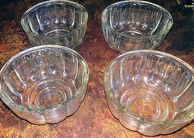 clear dpression glass jelly moulds