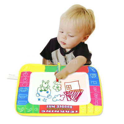 New Kids Water Scrawl Mat Drawing Painting Magic Pen for Baby Toddler Toys Gifts