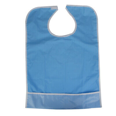 Reusable Large Adult Bib with Pocket Clothing Dining Protector Washable