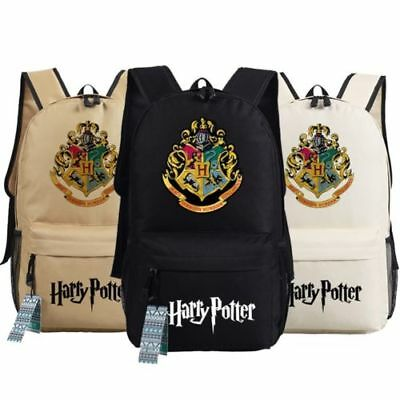UK Harry Potter Hogwarts School Badge Schoolbag Backpack Book Bag Rucksack Gift
