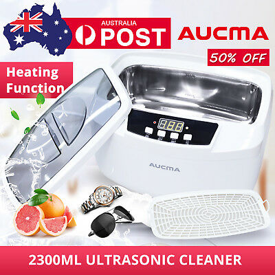 Ultrasonic Cleaner Aucma Stainless Tank Timer Heater Digital Watch Jewelry New