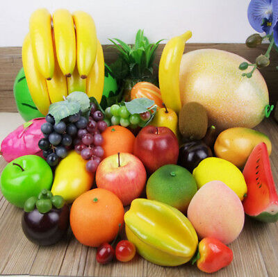 Various Lifelike Decoration Artificial Faux Fake Fruit Fruit shop Ornament Ef