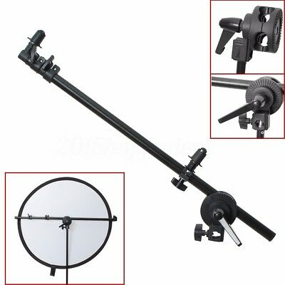 Phot-R 175cm Collapsible Reflector Holder Boom Arm Grip Photo Studio Light Stand
