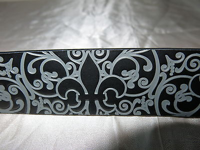 Fleur-de-Lis Men's/women's Designer Belt  PUGS GEAR  Size 36 or 38 Faux Leather