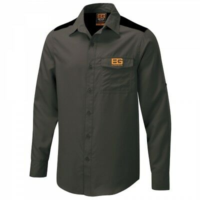 Mens Bear Grylls WALking Outdoor Hiking Core Shirt in Black Pepper SIZE SMALL