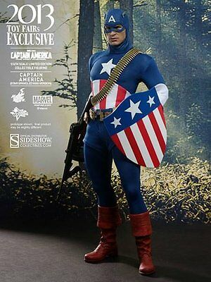 SIDESHOW HOT TOYS 2013 EXCLUSIVE CAPTAIN AMERICA STAR SPANGLED 1:6 Figur Statue.