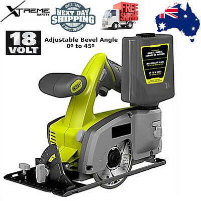 "Ryobi 18V ONE+ 4"" Wet & Dry Tile Saw Adjustable Angle"