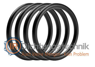 O-Ring Nullring Rundring 42,0 x 6,0 mm NBR 70 Shore A schwarz (4 St.)