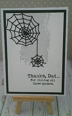 Handmade Father's Day Card: Spiders