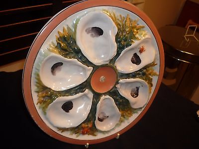 Antique Union Porcelain Works, Ups, 6 Well Oyster Plate