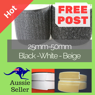 Hook & Loop 50mm, 25mm Adhesive Tape Good Grip, or Heavy Duty Adhesive Tape