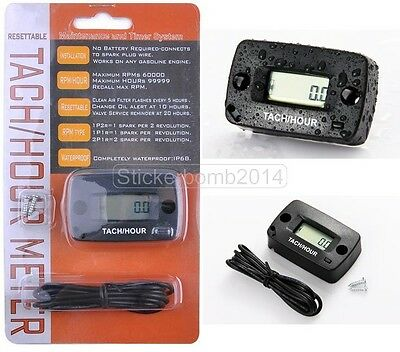 hour meter & tachometer maintenance timer BRUSH CUTTER CHAINSAW LAWNMOWER