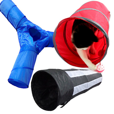 4 Types of Pet Tunnels - Puppy, Kitten & Cat - Fun Cat Toy with teaser training