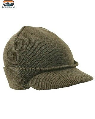 Winter Warm Hat Military US Jeep Docker Beanie Shooting Army MASH New Green