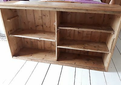 Bookcase: genuine old school pine- would look stunning in kitchen or study