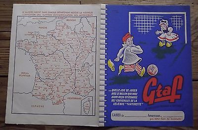 Ancien protège cahier publicitaire fromage Graf football illustrateur Lalart
