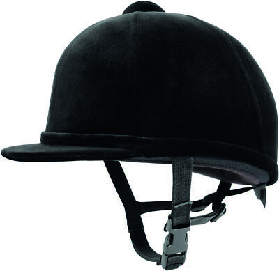 Charles Owen Young Riders Hat Black Size 7 (57Cm) Horse Riding Helmet Hat Protec