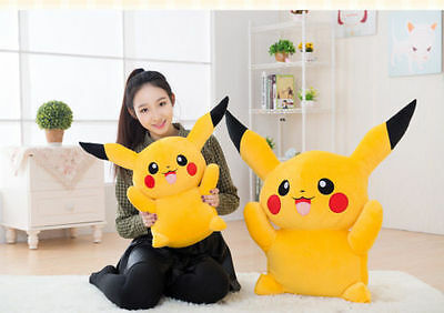 60CM Big Digimon Pikachu Pokemon go Plush Giant Large Stuffed Toy Doll Pillow