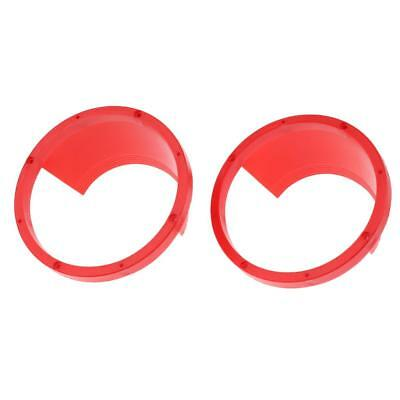 2x Replacement 6.5 Inch Speaker Rings Car Audio Mounting Spacers Forms Red