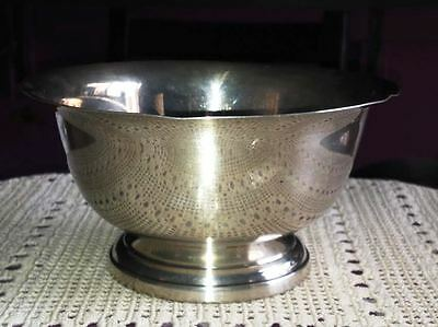 """Poole Sterling Silver Paul Revere Reproduction 6"""" wide Bowl"""