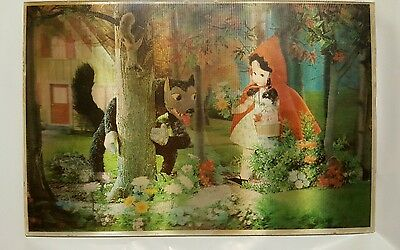 Victor Anderson 3-D Lentograph Plate # 213 Red Riding Hood