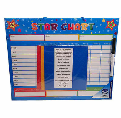 Magnetic Star Reward Chart - For Good Behaviour & Chores NEW!!!