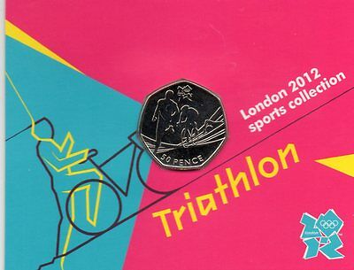 London 2012 Royal Mint Olympic TRIATHLON 50p coin  Uncirculated