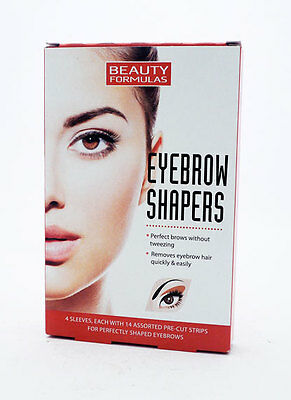 56 x Beauty Formulas Eyebrow Shapers Assorted Pre-cut Strips Eybrows Shaping