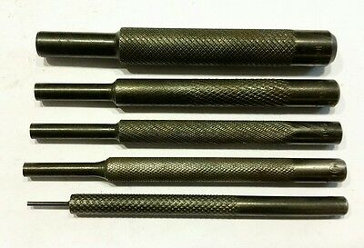 "HP Metal pin punches (5) .061"", .186"", .212, .244, .359     Made in USA."