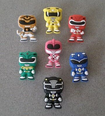 7 Power Ranger *USA* shoe/bracelet charms jibbitz/jibitz  pvc party favors