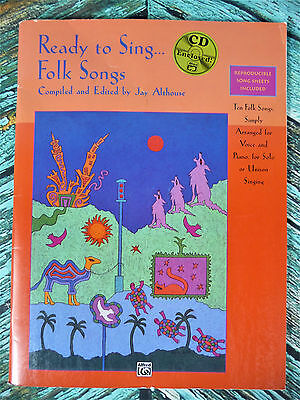 New! READY TO SING... FOLK SONGS Vocal Book & CD Jay Althouse Sheet Music 17175