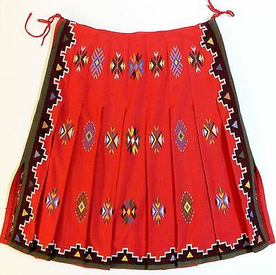 Greek, Beautiful, Antique, Ethnic, Traditional, Cotton Skirt - Hand Embroidered