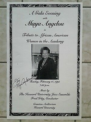 1995 Poster Maya Angelou Tribute to African American Women in the Academy Howard