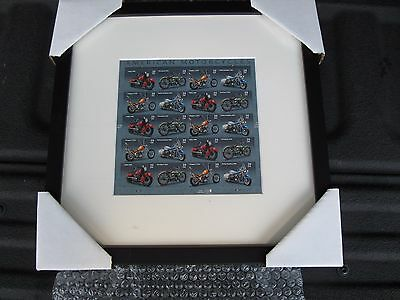 American Motorcycles Usps Stamps Framed Matted