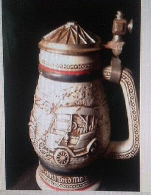 Avon  Collecters 1979 Antique Cars Beer Stein #369503 Made In Brazil