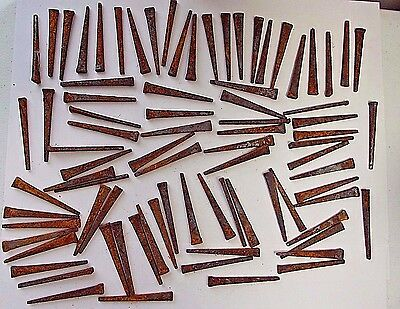 80 Count of 2 inch Rusty Crusty Cut Nails Refinishing / Period Repair / Crafts