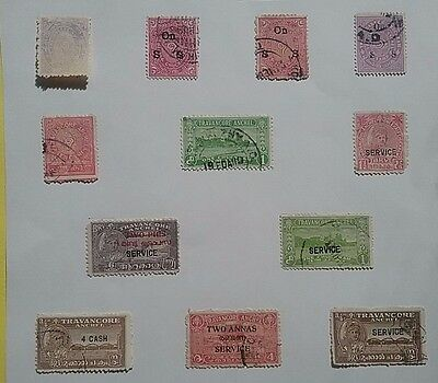 India Feudatory States Travancore stamps