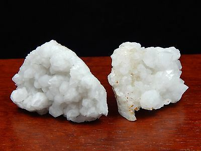 White Quartz Crystal Plates, Set of 2 USA Collectible Mineral Display Specimens