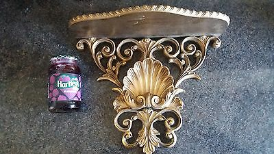 Antique Rococo beautiful gilt wall  clock shelf. In very good usable condition.