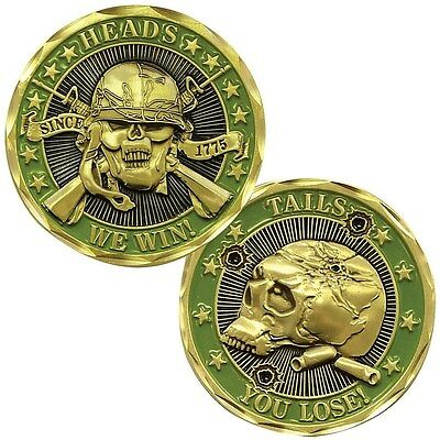 Heads We Win...Tails You Lose Challenge Coin (Eagle Crest 2464)