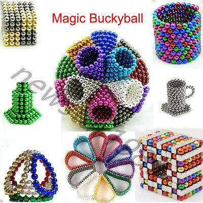 3D Sphere Magic Puzzle Cube Magnetic Metal Neodymium Balls For Education DIY Toy