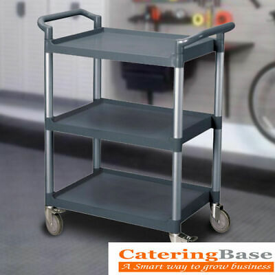 HEAVY DUTY 3 Tier Clearing Trolley Large 940X851X410mm COMMERCIAL Catering CART