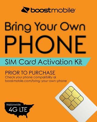 Boost Mobile Bring Your Own Device SIM Card Activation Kit