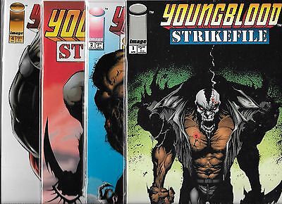 Young Strike File Lot Of 4 - #1 #2 #3 #4 (Nm-) Image Comics