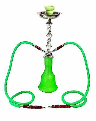 "20"" solid colour 2 hose hookah green colour (p1) hookah"