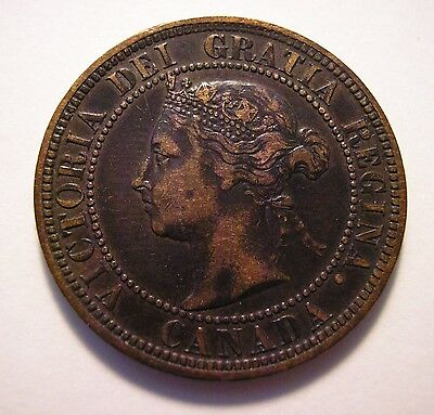 CANADA Large Cent Penny 1882H Victoria - real nice