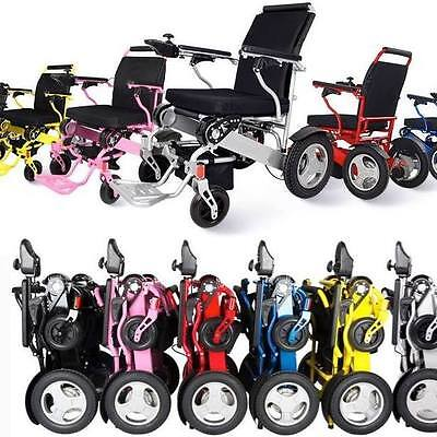 NEW Folding Electric Wheelchair Premium *6 Colours*  Light Weight 3 secs to Fold