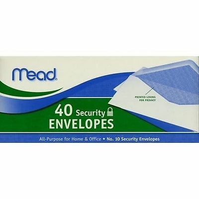 "#10 Mead Envelope Security Size(9.50"" x 4.12"") 20 lb, White, FAST SHIP US SELLER"