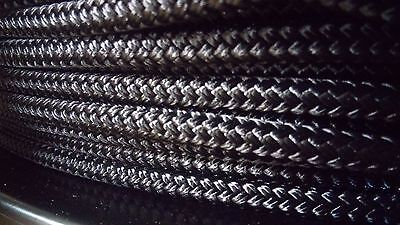 1/4 x 100 ft Pre-Cut double braid~yacht braid polyester rope hank.Black